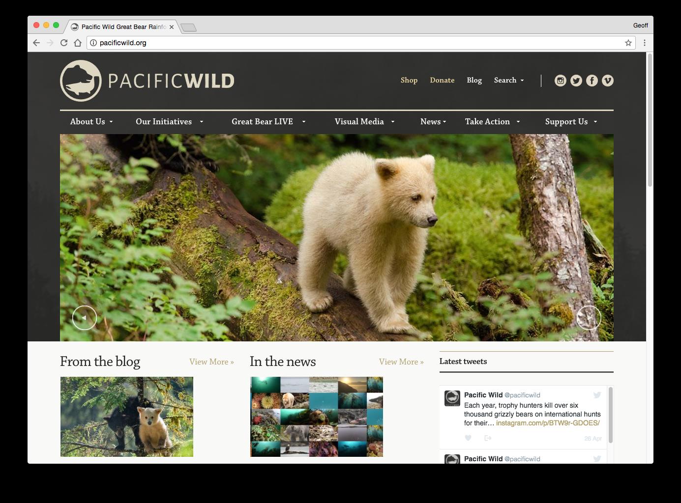 Pacific Wild Website